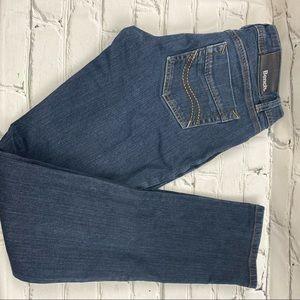Bench stretch straight leg dark wash jeans